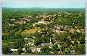 Durham New Hampshire~University of New Hampshire~Aerial View~1950s Plastichrome