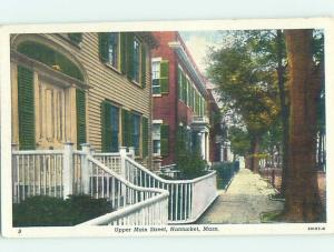 Unused Linen STREET SCENE Cape Cod - Nantucket Massachusetts MA W1389
