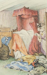 The Tale Of Tom Kitten Beatrix Potter 1907 Book Postcard