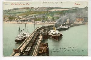 Steamers Admiralty Pier Dover Kent England United Kingdom 1905 postcard