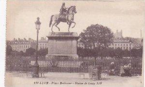 France Lyon La Place Bellecour Statue de Louis XIV