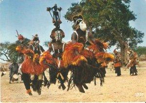 CE0224 mali sangha dogons dancers traditional folk costume types ethnics folklor