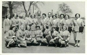 Corporate women in uniforms Red Cross nurses snapshot photo NOT postcard