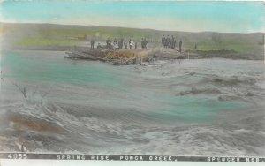 H15/ Spencer Nebraska RPPC Postcard 1910 Spring Flood Disaster Color