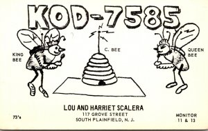 QSL Card KOD-7585 Lou and Harriet Scalera South Plainfield New Jersey