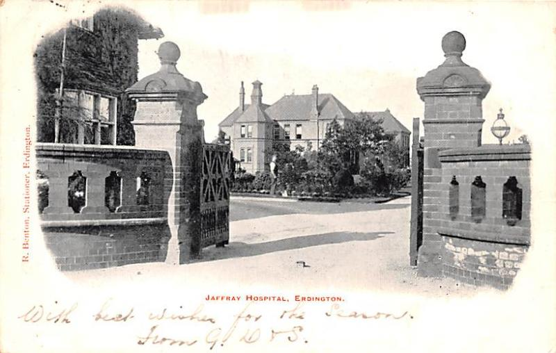 Scotland, UK Old Vintage Antique Post Card Jaffray Hospital Edinburgh 1908