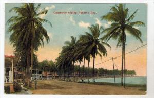 Panama   Causeway Edging Panama Bay,