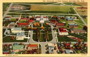 Utah Salt Lake City University Of Utah Campus Curteich