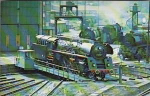 German States Railway Locomotive On Turntable At Saalfeld East Germany June 1977