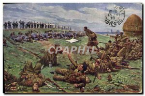 Old Postcard Militaria L & # 39abus white flag