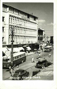 turkey, ADANA, Küçük Saat, Street Scene, Bus Car (1963) RPPC Postcard