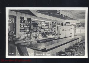 RPPC ALBERTON MONTANA LINCOLN'S SILVER BAR VINTAGE REAL PHOTO POSTCARD INTERIOR