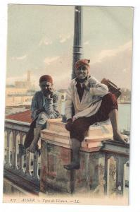 Types de Cireurs Shoe Shine Boys 1910 Algeria L.L. Postcard