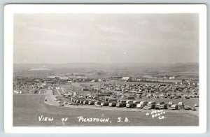 Pickstown South Dakota~Dam~Government Town Panorama~Travel Trailers~c1950 RPPC