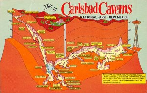 Caves Post Card Carlsbad Caverns National Park New Mexico, USA Unused