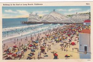 California Long Beach Cyclone Racer and Surf Bathers