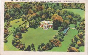Virginia Charlottesville Airplane Views Of Monticello Home Of Thomas Jefferson