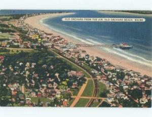 Unused Linen HOUSES BY THE BEACH Old Orchard Beach Maine ME d7266