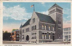 Exterior, Post Office, Jackson, Michigan, PU-1924