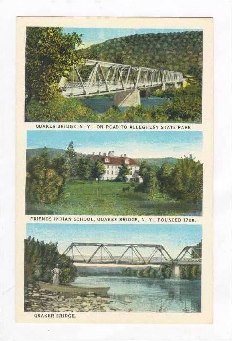 Indian School & Bridge,Quaker Bridge,NY 1910-20s