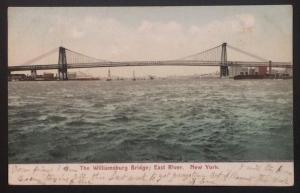 The Williamsburg Bridge, East River, New York 1908 The American News Co. 5114