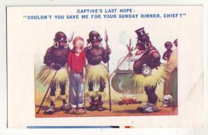 P709 art comic natives captive,s last day sundays dinner