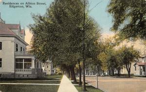 Edgerton Wisconsin~Albion Street Homes~Big Houses & Porches~Sidewalks~c1912