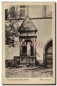 Old Postcard Kaysersberg ancient well
