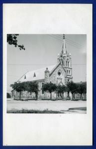 St. Mary's Catholic Church Fredericksburg Texas tx old postcard #2