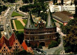 Germany Luebeck Blick Vom Ausichtsturm St Petri Auf Das Holstentor