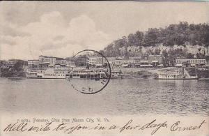 Bird's eye view of Pomeroy, Ohio, from Mason City, West Virginia, PU-1905