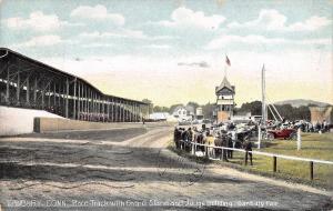 Danbury Connecticut~Fair: Race Track~Grand Stand~Judges Building~1908 Postcard