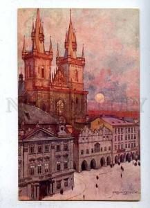 184555 Czech PRAGUE Church of Our Lady by SETELIK Vintage PC