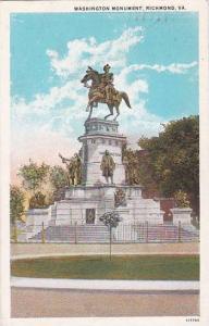 Virginia Richmond Washington Monument 1929