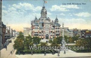 Winnipeg, Manitoba Canada, du Canada City Hall  City Hall