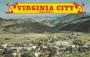 VIRGINIA CITY, Nevada, 1950-1960s; Bird's Eye View Of Old Mining Town