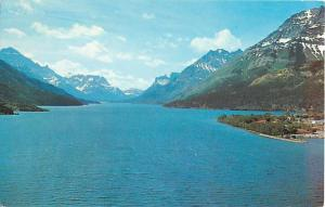 View of Waterton Lakes from Prince of Wales Hotel, Alberta AB, 1964 Chrome