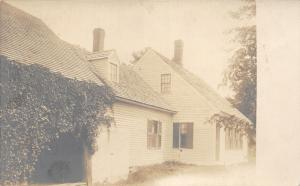 RPPC of House~Vines @ Doorway~Note Bk~Grafton County~pm 1910-Lyme New Hampshire