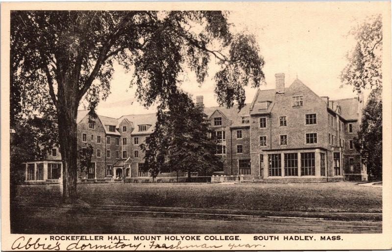 Rockefeller Hall, Mount Holyoke College South Hadley MA Vintage Postcard K08