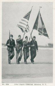 EDENTON , North Carolina, 1930s ; USMCAS , Color Guard