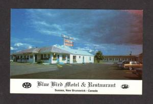 NB Blue Bird Motel Restaurant Sussex New Brunswick Canada Carte Postale Postcard