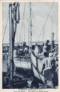 Sailing Boat docks, Lourenco Marques (P.E.A.)- Mozambique, 1940