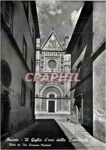 Postcard Modern Orvieto The Golden Lily of Cathedrals seen from the street Lo...
