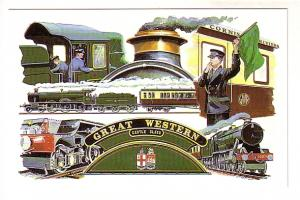 Great Western Railway, Four Views of Trains, Conductor, Castle Class