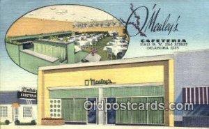 Oklahoma City, OK O'Mealey's Cafeteria Road Side Unused light indentation nea...