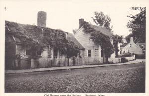 Old Houses Near The Harbor Rockport Massachusetts Albertype