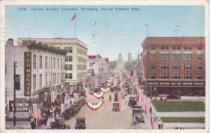 Wyoming Cheyenne Capitol Avenue During Frontier Days 1939