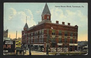 Opera House Outside View Tarentum PA Used c1912