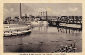 International Bridge, Dam & Paper Mill, Fort Frances, Ontario, Canada, 1910-1...