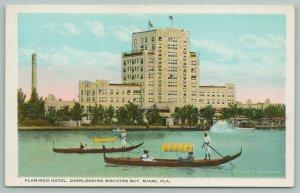 Miami Florida~Flamingo Hotel @ Biscayne Bay~Black Men Steer Gondolas~1920s